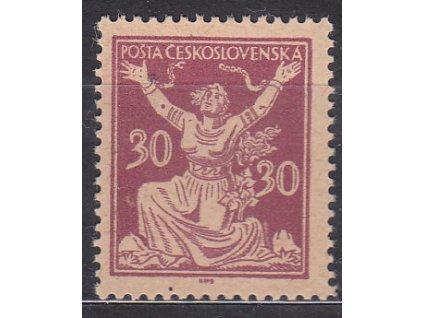 30h fialová, zoubkovaný ZT na nahnědlém papíru bez lepu, Nr.153
