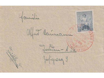 1939, Praha, Narozeniny vůdce, dopis zaslaný do Německa