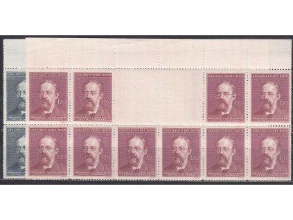 1944, 60h-1.20K B.Smetana, velké podkovy, horní okraj, Nr.118-19, **