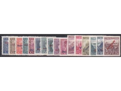 5h-3Kč, tzv. krátká série, bez 60h modrý Štefanik, Nr.2-18, **, ilustrační foto