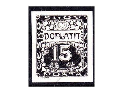 15h černá, ZT na křídovém papíru bez lepu, Nr.DL3