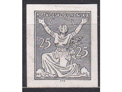 25h černá, nezoubk. ZT na křídovém papíru, zk.Vrba, Nr.152, bez lepu