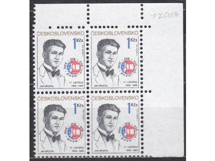 1989, 50h Opletal. roh. 4blok s dvojitou moletáží na ZP 19, Nr.2916, **