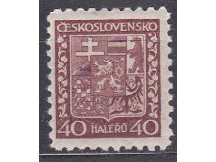 1929, 40h Znak, pergamenový papír, Nr.253x, * po nálepce