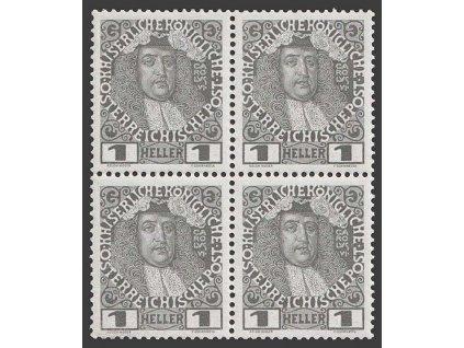 1908, 1 H Karel VI., 4blok, MiNr.139, **