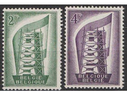1956, 2-4Fr série Europa, MiNr.1043-44, **