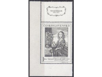 1966, 1Kčs Umění, DV - slza (výrazná), rohový kus, Nr.1574DV3, **, luxusní
