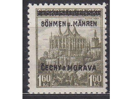 1939, 1.60Kč Kutná hora, DV - 8 místo B, zk.Karásek, Nr.13, **