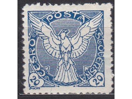 20h modrá, ministr. Řz.11 1/2, Nr.NV5, **, ilustrační foto