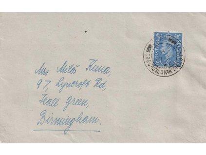 1944, ČSPP v Anglii, dopis zaslaný mezi jednotkami