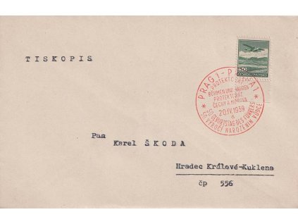 1939, Praha, Narozeniny vůdce, zasláno do Hradce Králové