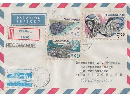 1981, DR Praha, R-let. dopis zaslaný do Bulharska