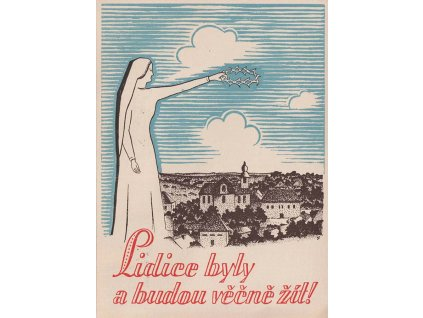 1946, Lidice, Lidice budou žít, pamětní karta, neprošlé