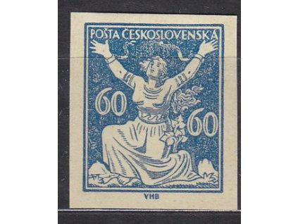 60h modrá, nezoubk. ZT na nažloutlé papíru bez lepu, Nr.157