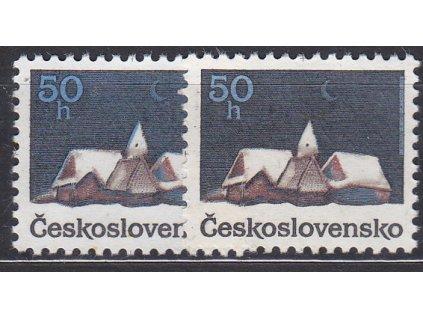 1990, 50h Vánoce, 2 ks - odstíny modré, Nr.2960, **