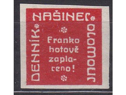 Novinová nálepka NAŠINEC OLOMOUC, Nr.NN18, * po nálepce