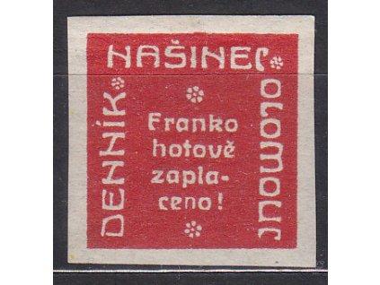 Novinová nálepka NAŠINEC OLOMOUC, Nr.NN18, bez lepu