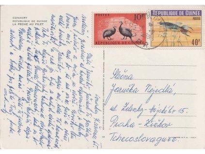 Guinea, 1965, DR Conakry, let. pohlednice zaslaná do ČSSR