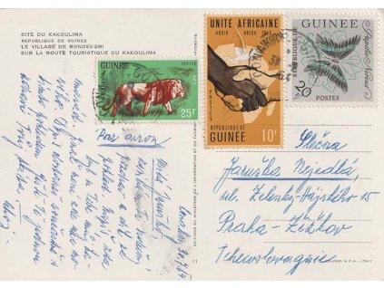 Guinea, 1964, DR Conakry, let. pohlednice zaslaná do ČSSR