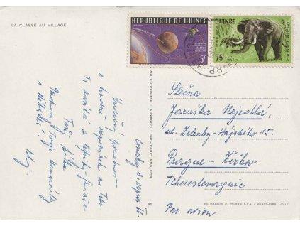 Guinea, 1966, DR Conakry, let. pohlednice zaslaná do ČSSR