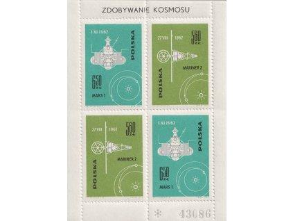 1963, 5.60-6.50Zl číslovaný aršík Kosmos, MiNr.Bl.31I, **