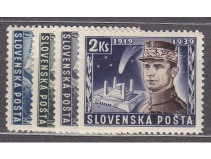 1939, 40h-2Ks Štefanik, série, Nr.34-7, **, ilustrační foto