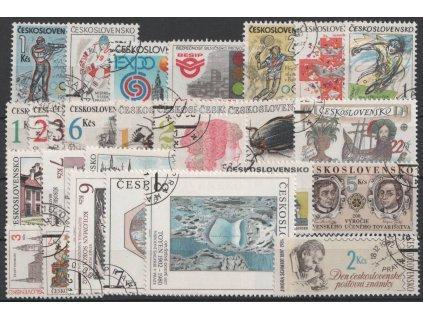 1992, kompletní ročník výplatních známek, razítkované, ilustrační foto