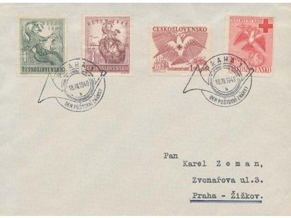 1949, FDC 527-28 ČK a FDC 529-30 Dětem, neohlášené FDC