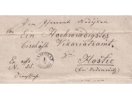 Nadegkau, skládaný dopis zaslaný v roce 1868 do Hoštic