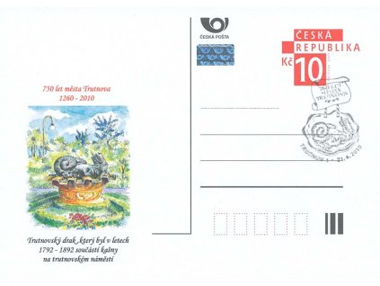 2010, 750 let města Trutnova, pamětní razítko 21.4.2010