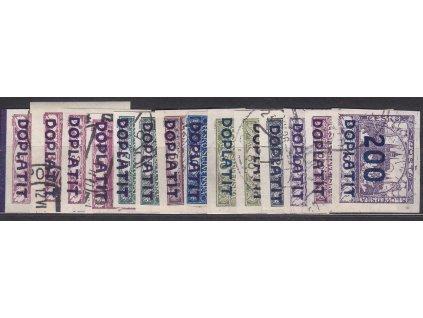1922, 10/3h-200/400h doplatní série, Nr.DL15-28, razítkované, ilustrační foto