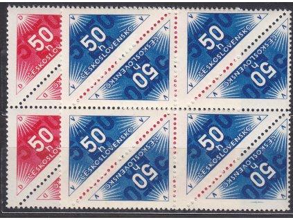 50h modrá a červená doruční, 8bloky, Nr.DR1-2, **