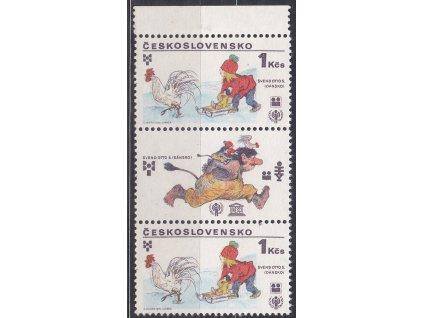 1979, 1Kčs UNESCO, kraj.. 3páska s DV - modrý klín, Nr.2391, **