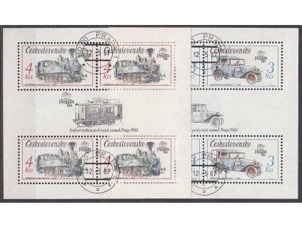 1987, 3-4Kčs aršíky Technické památky ČSSR, Nr.A2795,7, razítkované, denní razítko