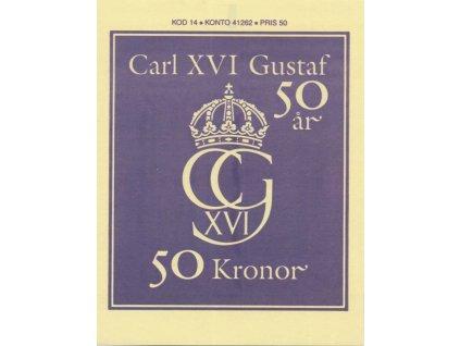 1996, známkový sešitek král Karel XVI., MiNr.1933-36, **