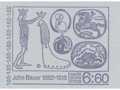 1982, známkový sešitek John Bauer, MiNr.1178-81, **