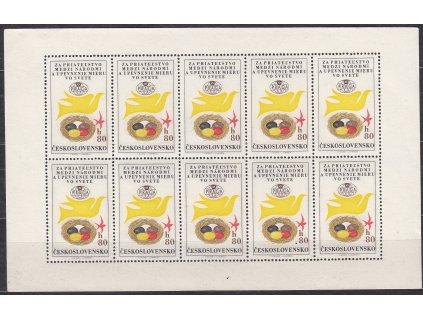 1962, 80h Letecká, PL, Nr.PLL50, **, lehký lom přes 2 zn.