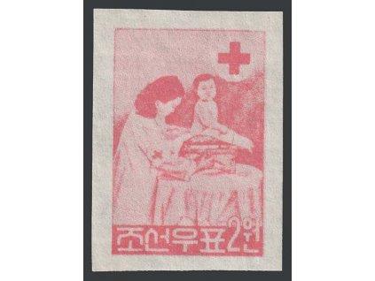 Korea-Nord, 1957, 10 Červený kříž, MiNr.132B, **
