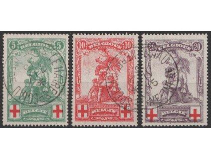 1914, 5-20 C série Červený kříž, MiNr.104-6, razítkované, 10C dv