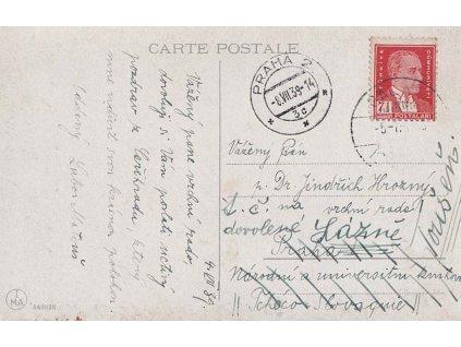 1939, DR Galata, pohlednice zasl. do Protektorátu, dosíláno