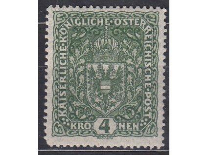 4K tmavě zelená Znak, úzká, * po nálepce, zn. platná v ČSR