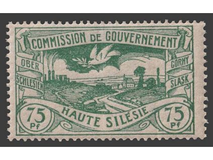 Oberschlesien, 1920, 75 Pf Výjev, MiNr.24, **