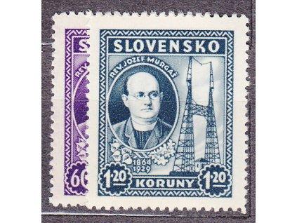 1939, 60h-1.20Ks Murgaš, série, Nr.38-9, **, ilustrační foto