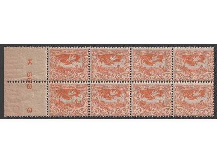 Oberschlesien, 1920, 30 Pf Výjev, 8blok, Nr.20, ** ,vlom, skvrnka