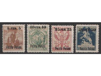 1918, 5F/2Gr-50F/20Gr série, MiNr.2-5, * po nálepce