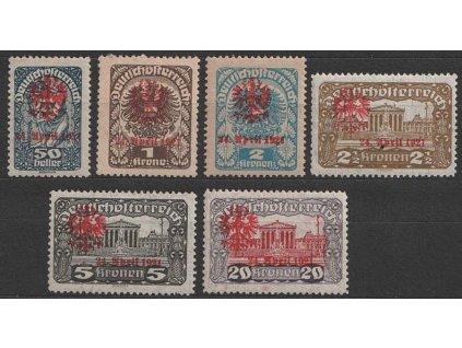 1918, Tirolsko, 50H-20Kr s přetiskem Orel, těžší *