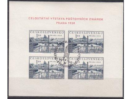 1950, aršík PRAHA 1950, 1 pamětní razítka, Nr.A564, ilustrační foto