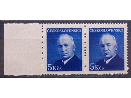 1948, 5Kčs Beneš, 2páska, pergamenový papír, **