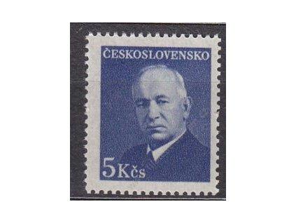 1948, 5Kčs Beneš, průsvitný - perg. papír, Nr.466, **