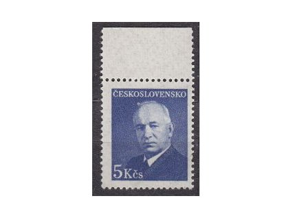 1948, 5Kčs Beneš, průsvitný - perg. papír, kraj. kus, zk-Kraus, Nr.466, **.